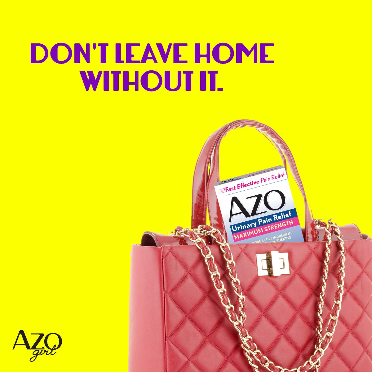 Don T Leave Home Without It Azo Urinary Pain Relief Helps You