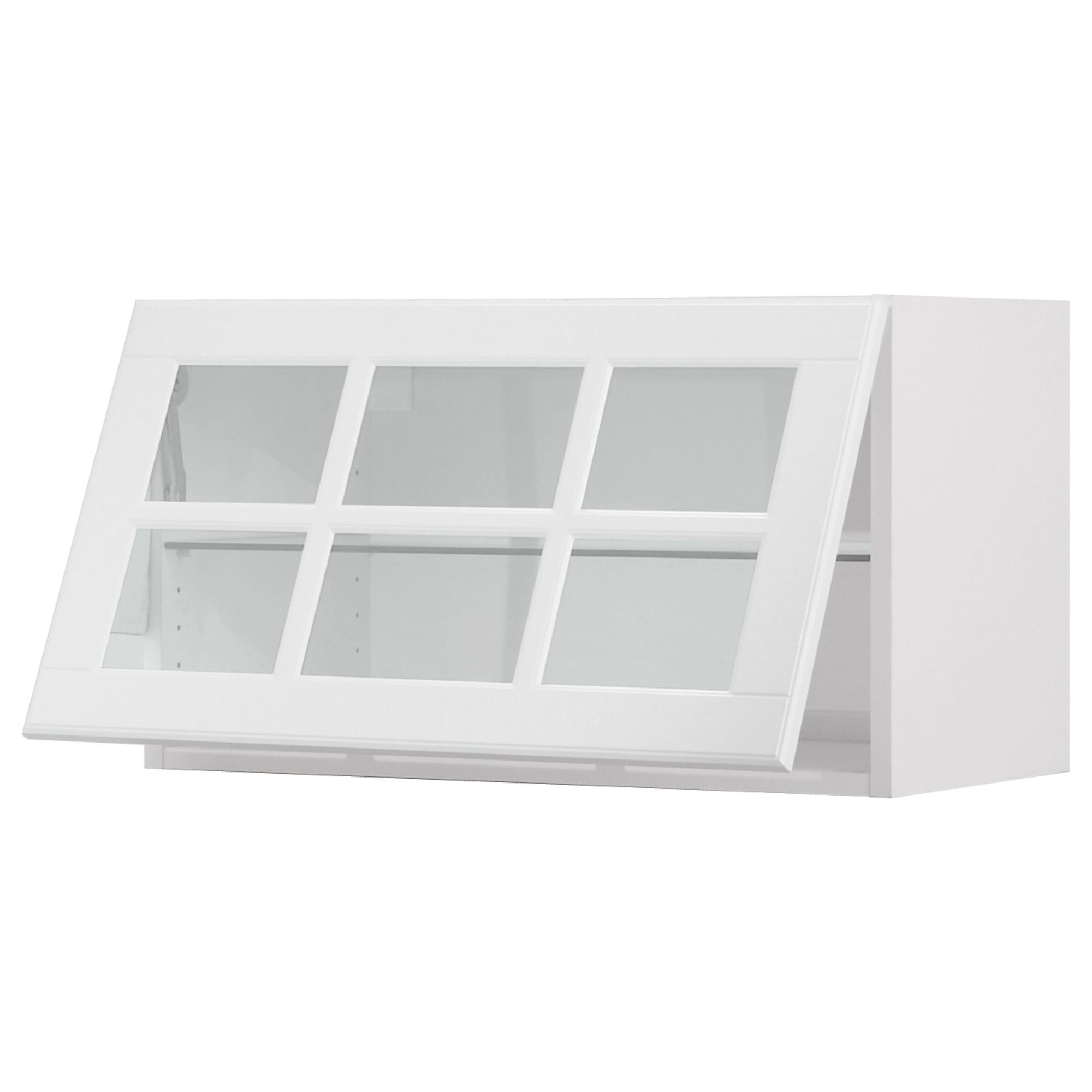 Wandvitrine Glas Akurum Wall Cab Horizontal W Glass Door Birch Lidi White 30