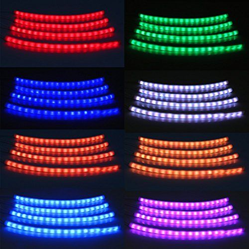 Led Strip Lights For Cars Everbright 7 Color Car Styling Rgb Led Strip Light Atmosphere