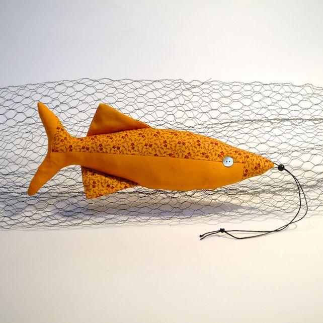 Moda Fabric Decorative Fish - sunshine yellow and flowers £12.00