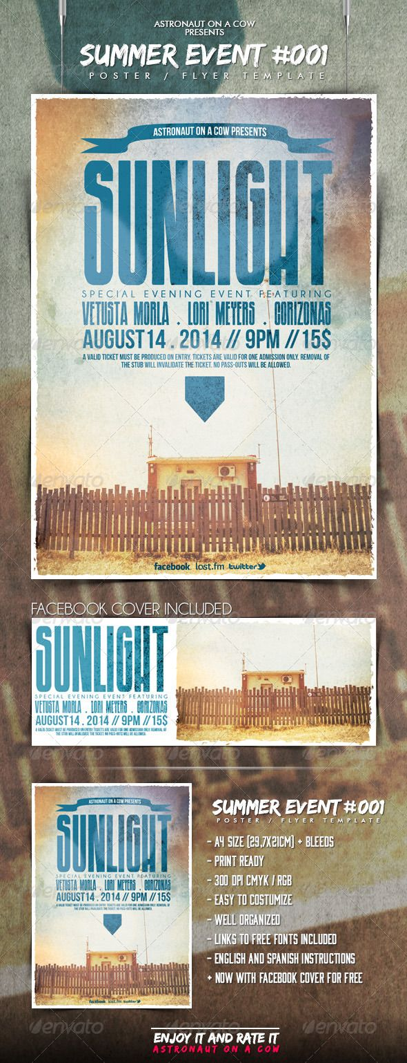 Photo of Summer Event Poster/Flyer N.001 — Photoshop PSD #show #cmyk • Available here…