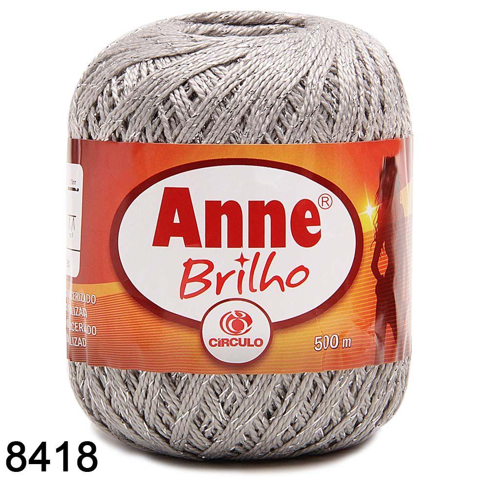 Linha Anne Brilho Prata Circulo Para Croche Compre Online Fio De Croche Linha De Croche Padroes De Trico