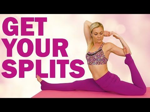 yoga for splits  flexibility how to tutorial with