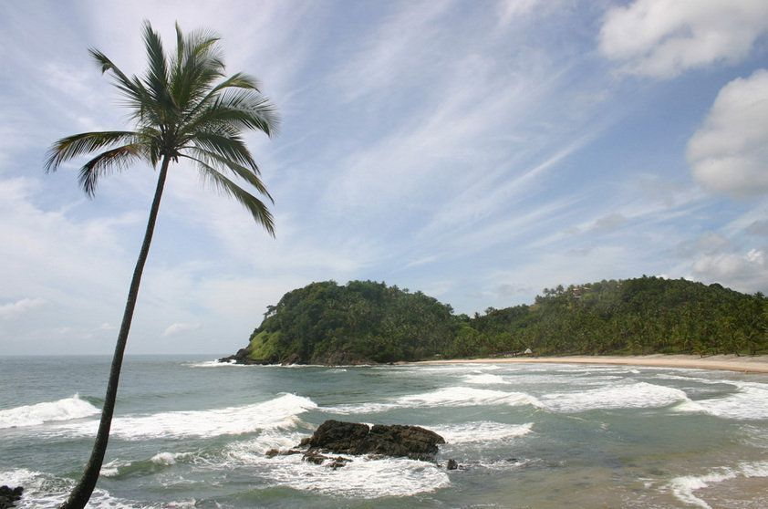 Vista da Prainha, um dos points preferidos pelos surfistas de Itacaré por causa do mar agitado e da grande quantidade de ondas