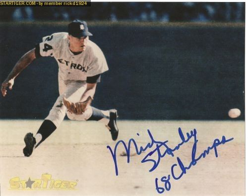 mickey stanley detroit tigers | Mickey Stanley autograph collection entry at StarTiger