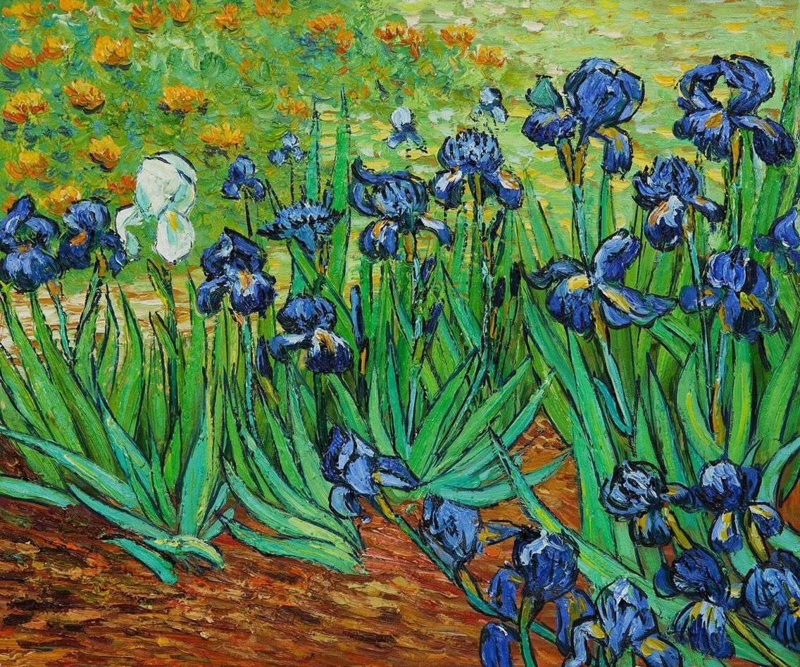 The famous painting of iris flowers by vincent van gogh allusions the famous painting of iris flowers by vincent van gogh izmirmasajfo