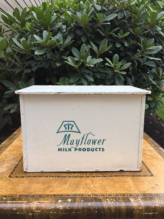 Vintage Milk Box Storage Front Porch Home Delivery