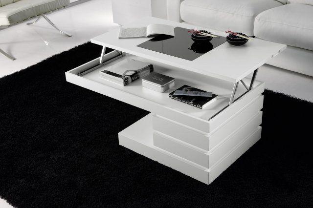 Mesa centro elevable blanca pinterest decoration et maison - Mesa de salon elevable ...