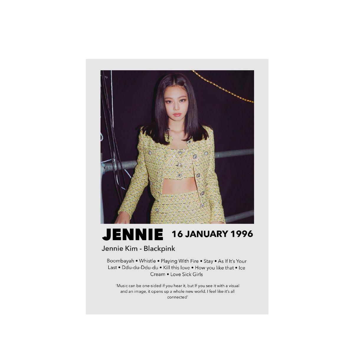 Jennie from BLACKPINK poster print photo