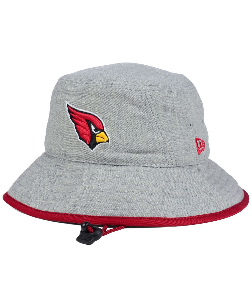 04547a52 New Era Arizona Cardinals Nfl Heather Gray Bucket Hat   Football ...