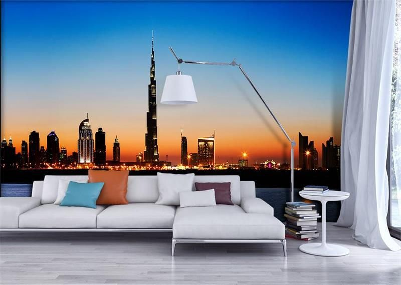 3d room wallpaper custom photo mural non woven wall sticker hd dubai tower natural scenery painting photo wallpaper for wall 3d affiliate