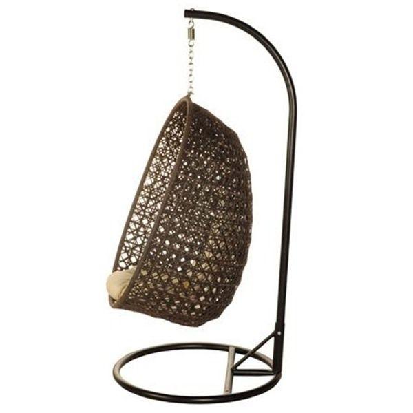 Bramblecrest Rio Rattan Cocoon Garden Swing Seat Pod Chair