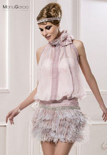 Comprar vestido de fiesta con plumas