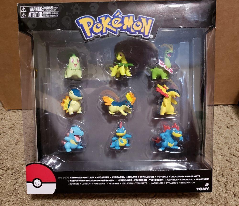 Cyndaquil /& Totodile Figure 9-Pack Pokemon Evolution Chikorita