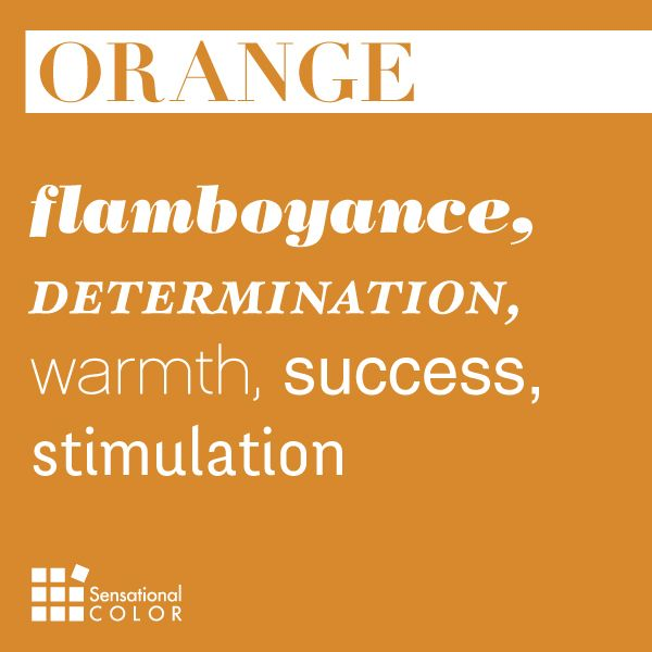 Here are some of the meanings of the colour orange.