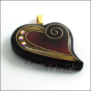 Faux cloisonne heart polymer clay pendant tutorial polymer faux cloisonne heart polymer clay pendant tutorial polymer tutorials mozeypictures Image collections