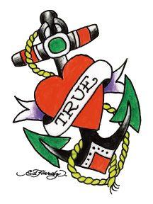 Ed Hardy Love Anchor Temporary Tattoo | Ed Hardy | Ed hardy tattoos ...
