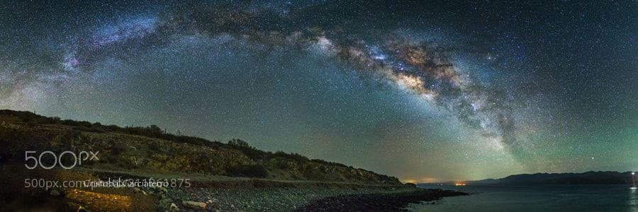 Milky way over the Ensenada de Los Piratas Muertos near La Paz B.C.S Mexico by CristobalGarciaferroRubio via http://ift.tt/2pigBEL