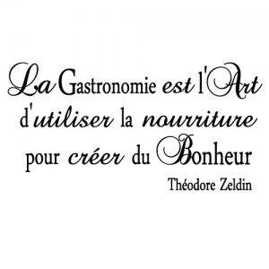 Stickers citation gastronomie citations pinterest - Stickers cuisine citation ...