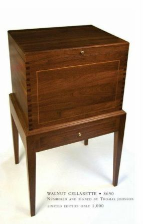 Handcrafted Walnut Wine Cellarette By Thomas A. Johnson Furniture Co.    Order Online