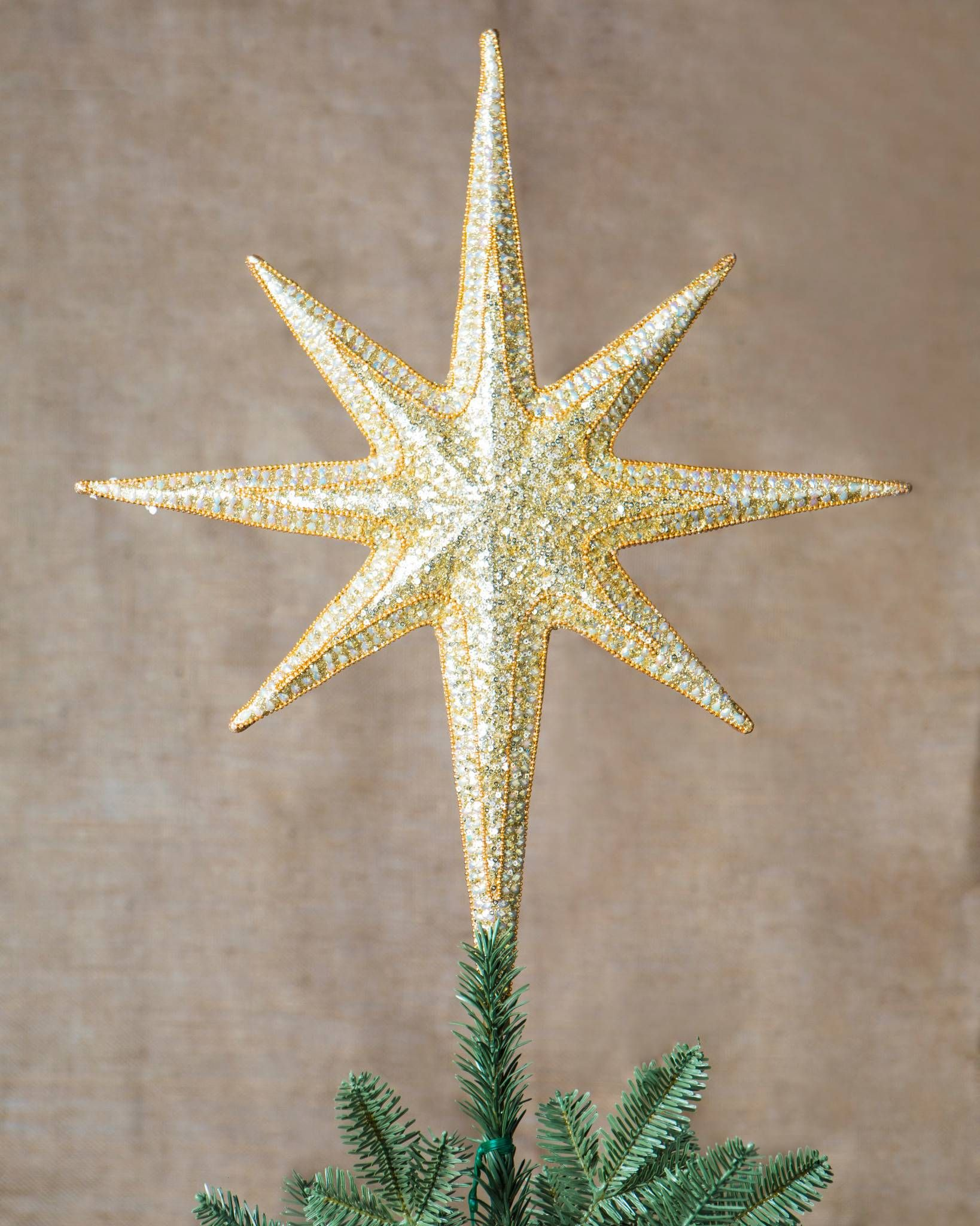 Star Beaded Tree Topper Brilliant Bordeaux Theme Tree Toppers