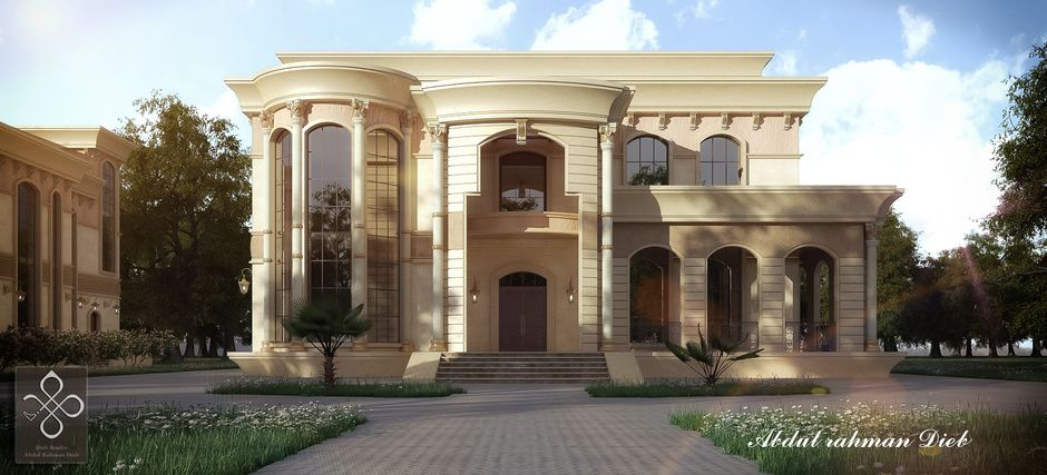 New classic villa by abdulrahman dieb architecture 3d for Classic villa exterior design