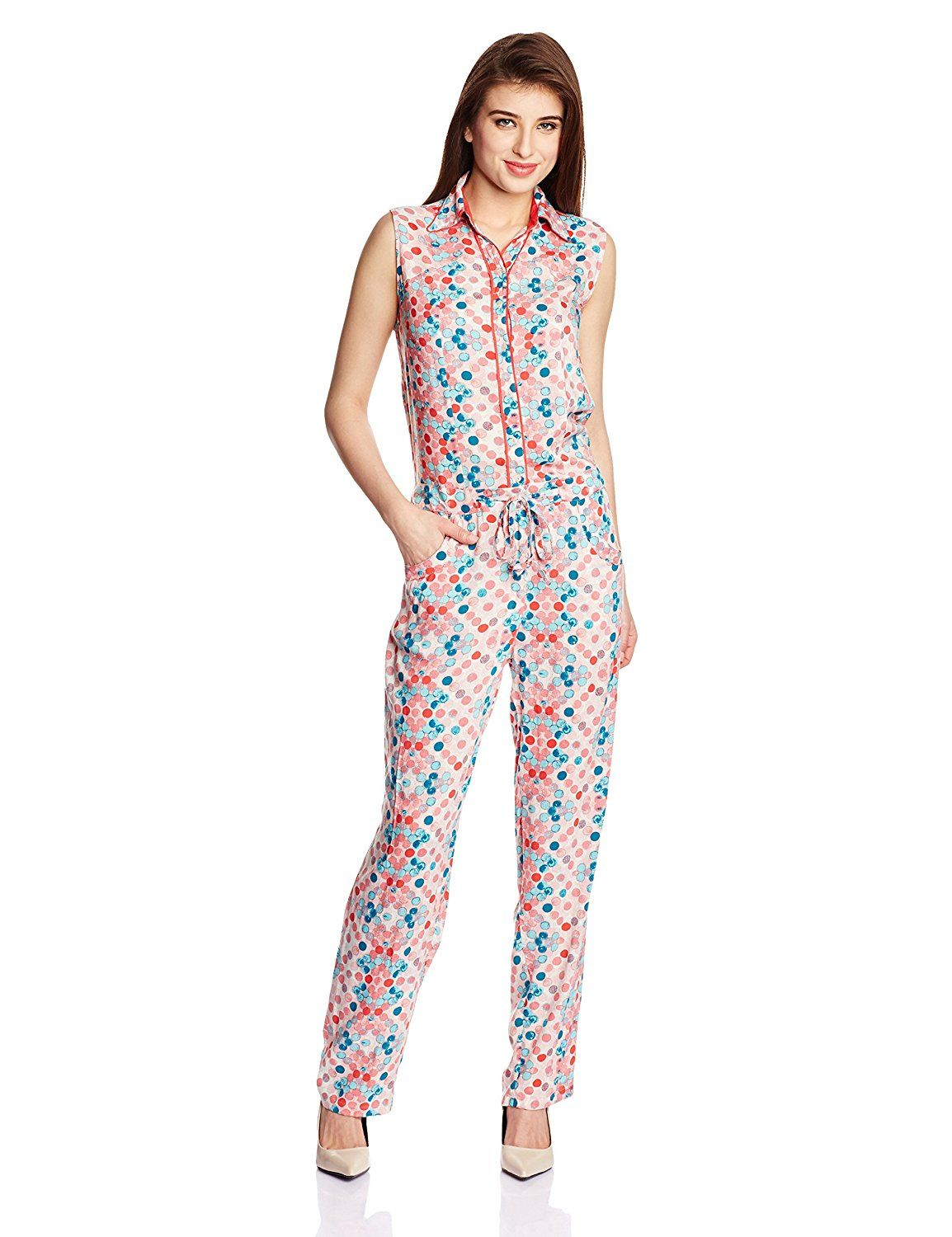 de54788c510 Biba Women s Multi-Coloured Synthetic JumpSuit Colour  Multi-Coloured Fabric    Synthetic Straight