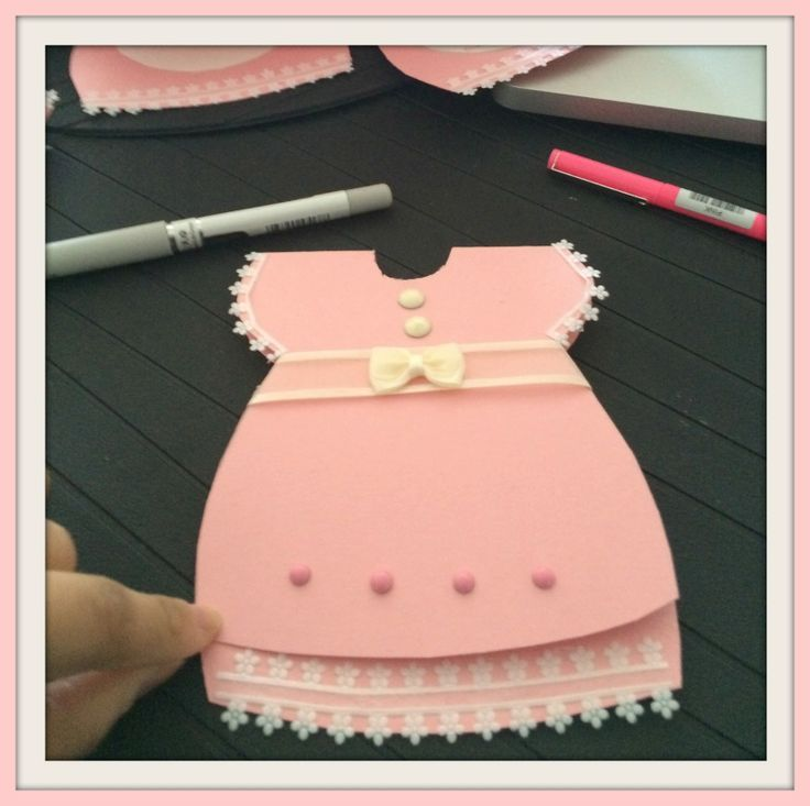 Baby Shower Dress Ideas: Learn How To Make A Baby Shower Dress Invitation Card