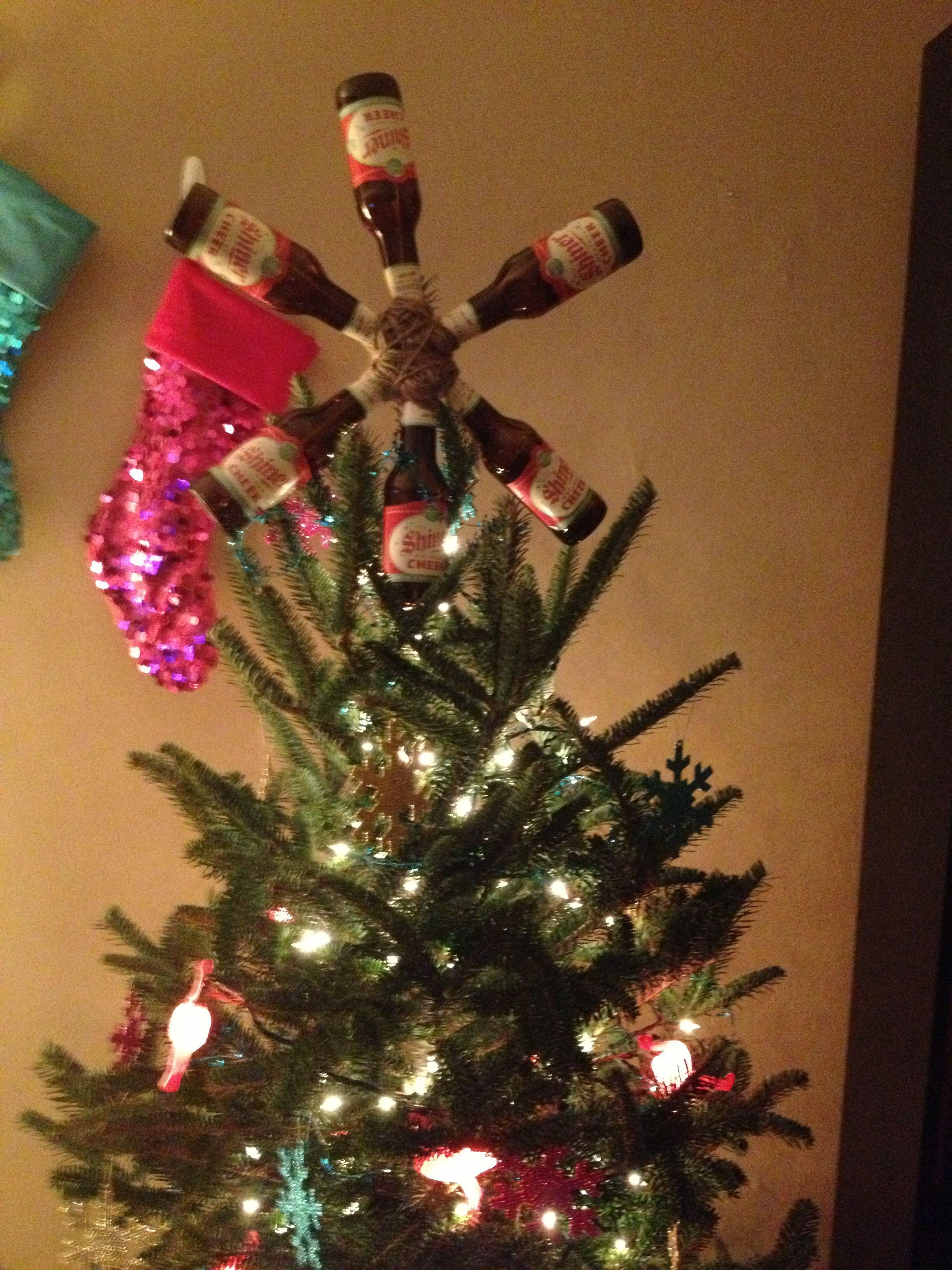 Beer bottle tree topper DIY Pinterest