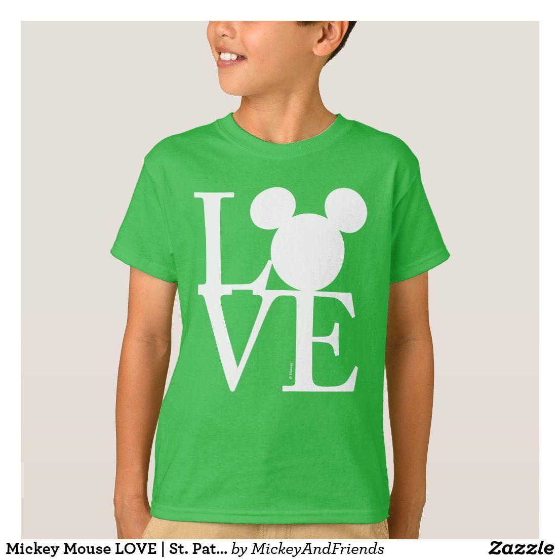 Mickey mouse love st patricks day tshirt