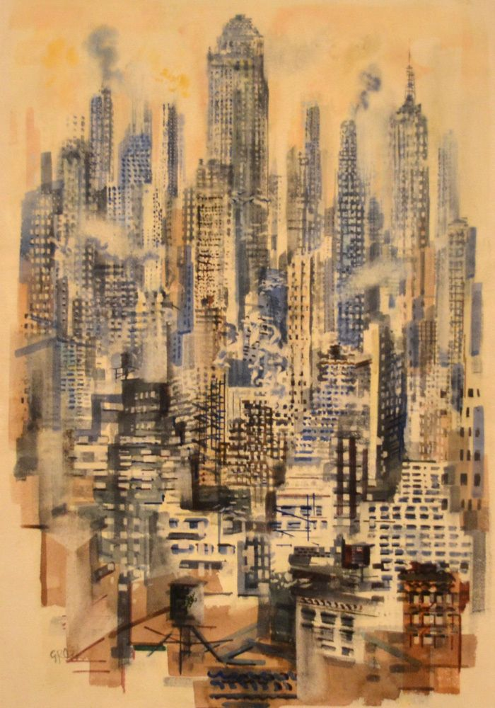 View of Manhattan, George Grosz, 1936-1940