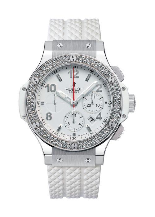 Hublot Big Bang Steel White Diamond Chronograph 41mm Ladies Watch