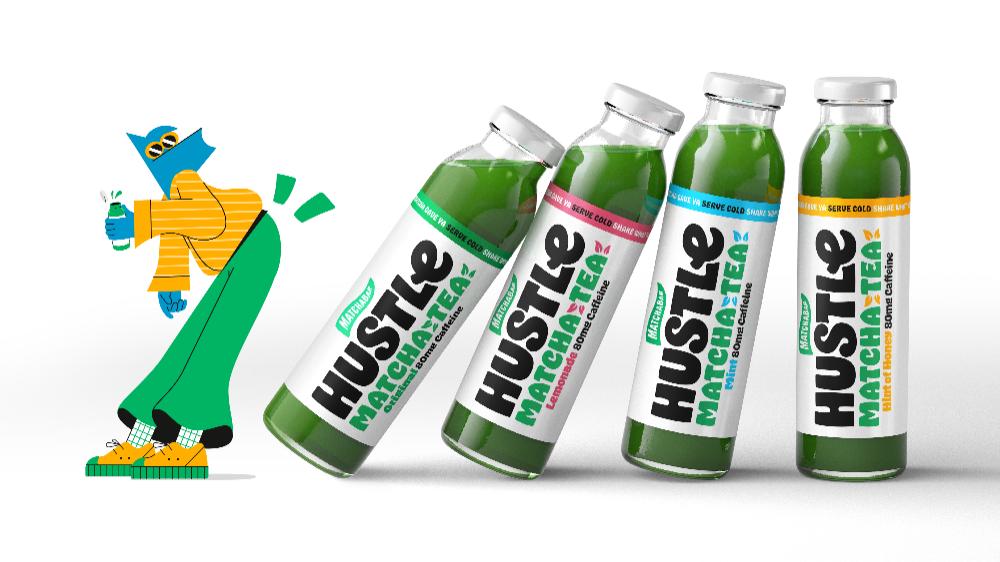 Jkr Rebrands Hustle The Plant Based Matcha Energy Drink Dieline In 2020 Matcha Energy Matcha Energy Drink Energy Drinks
