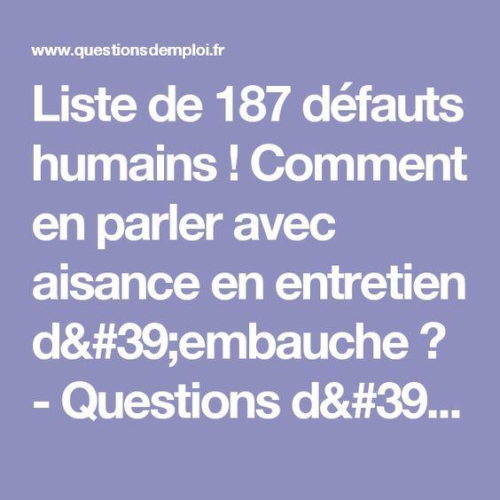 liste de 187 d u00e9fauts humains   comment en parler avec