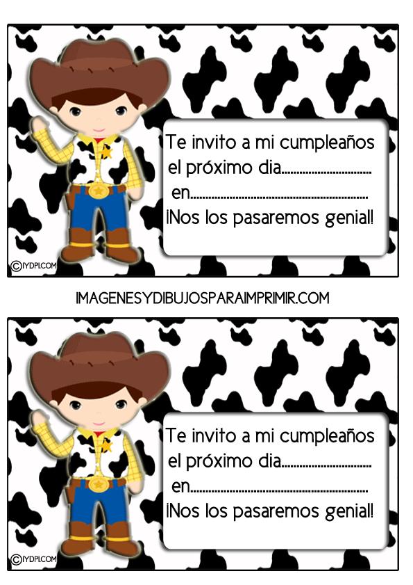 Invitaciones De Cumpleanos De Toy Story Para Imprimir Invitaciones