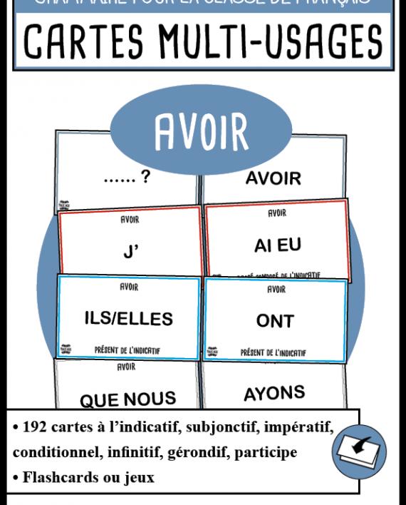 Cartes De Conjugaisons Fle Verbe Avoir Sitename Fle Conjugaison Cartes
