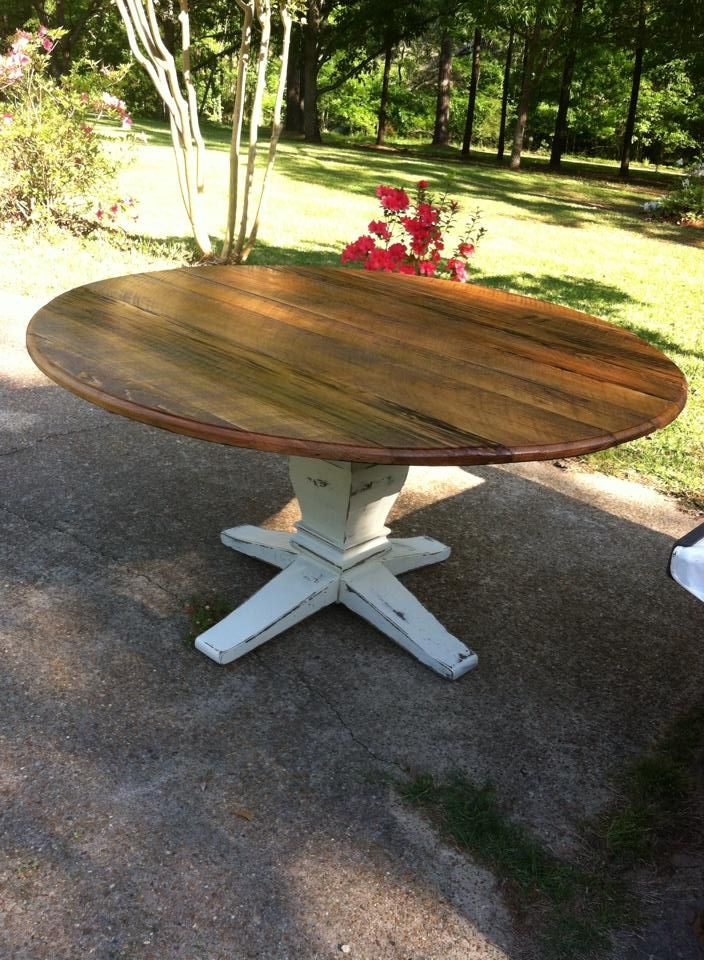 60 inch Round Farm Table in 2019 | Dining room table, 60 ...