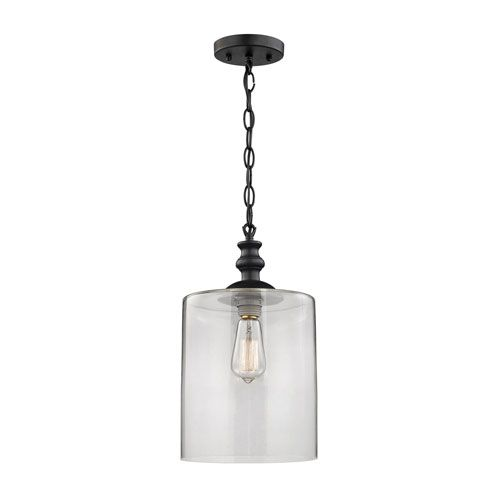 Bergen Oil Rubbed Bronze One Light Pendant Transitional