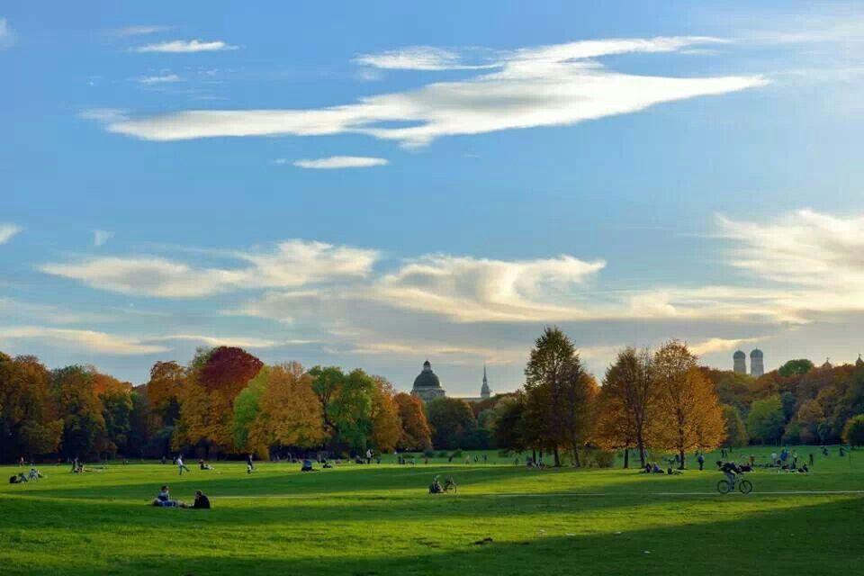 Englischer Garten Muenchen Golf Courses Field Germany