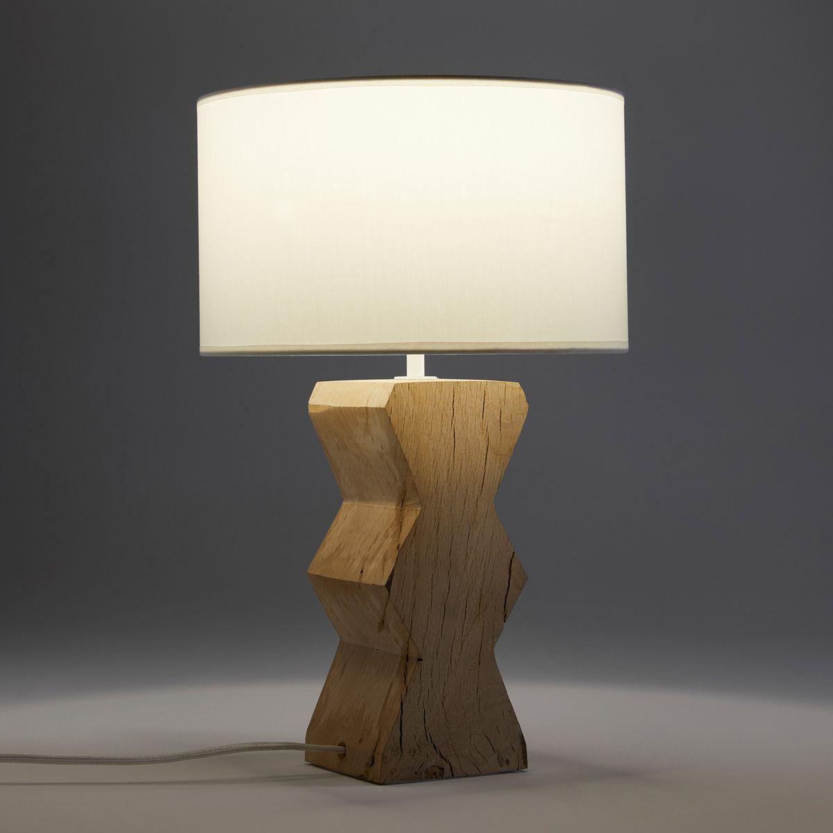 Lampe Chene Brut Anucha Taille Taille Unique Lampe De Bureau Lamp Lampes De Table