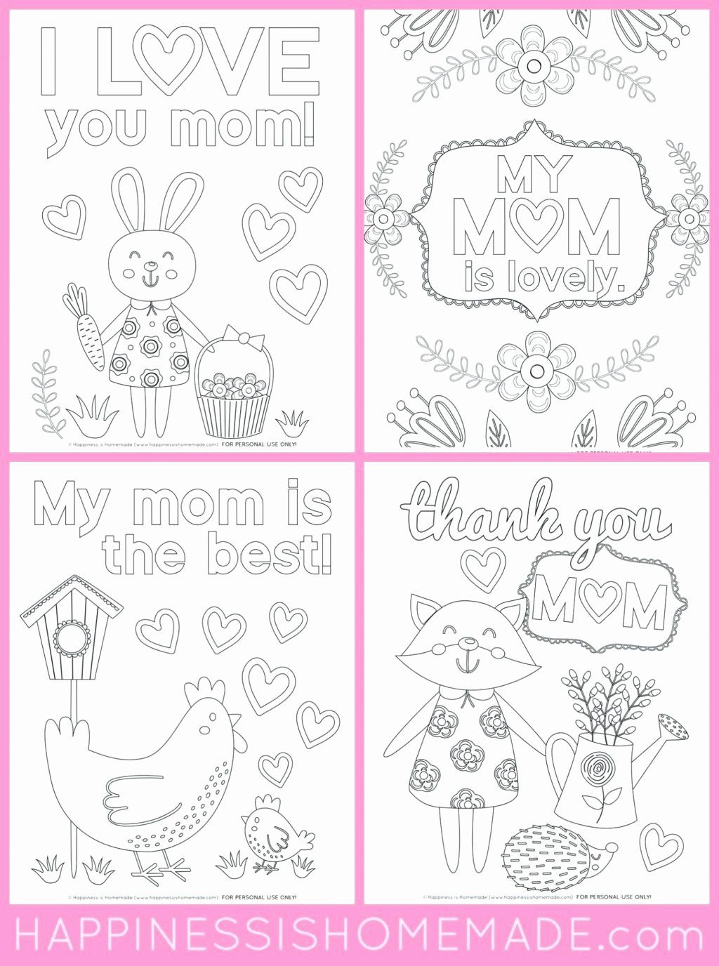 Mothers Day Coloring Flowers In