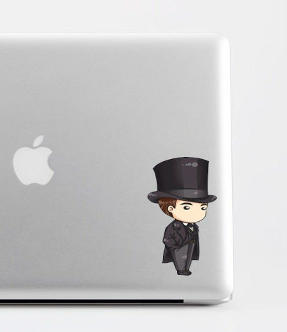 Sherlock Holmes Victorian Chibi Sticker
