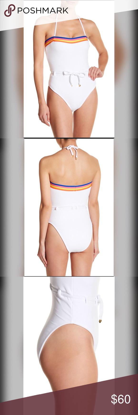 5da8126319 Juicy Couture Colorblock Microterry Swimsuit 🌈 This has all the best  vibes. Grab your roller