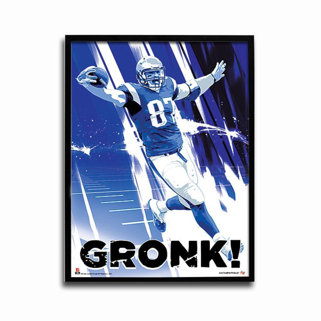 New England Patriots Rob Gronkowski End Zone 24x18 Football Poster New England Patriots Football Poster Nfl New England Patriots