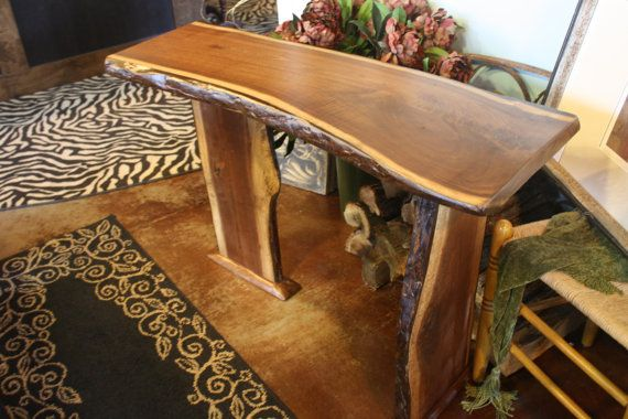 Solid Black Walnut Accent Table by KooteniaDesigns on Etsy