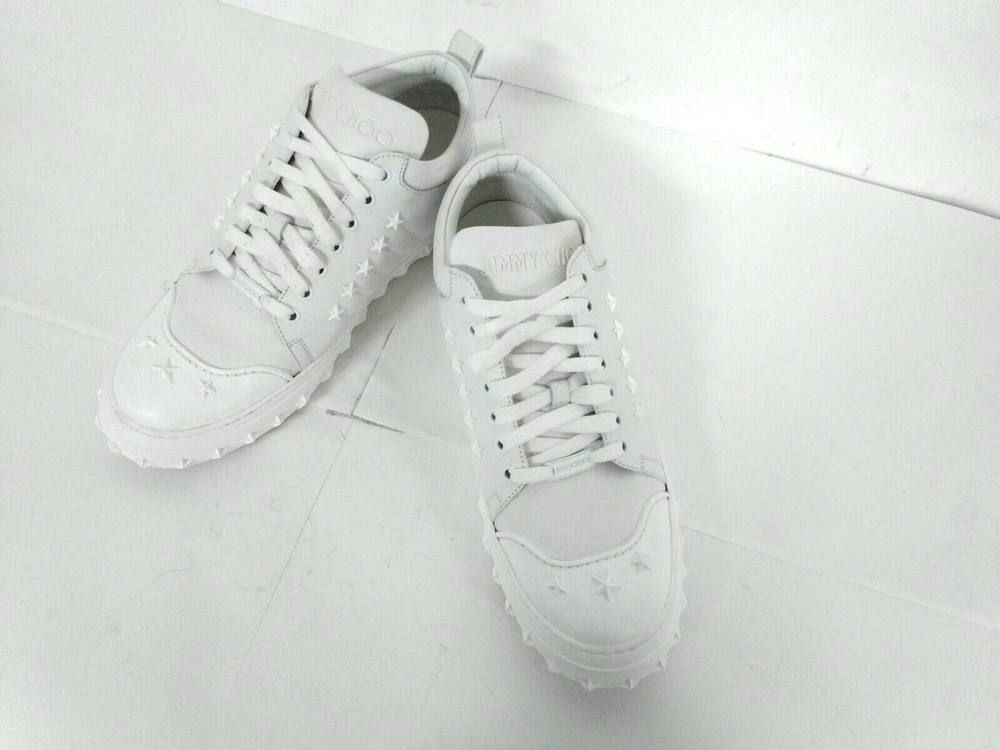 5d793a469 eBay  Sponsored Auth JIMMY CHOO Philippa White Leather Mens Sneakers  43 (US  10.5)