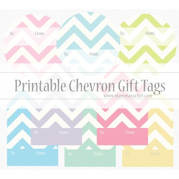 Free Printable Chevron Gift Tags