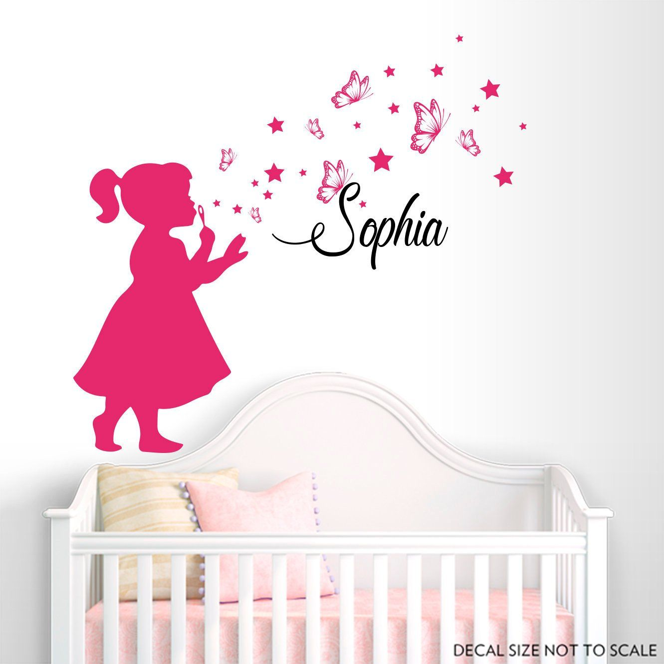 Personalized Name Wall Decal Erfly Stars