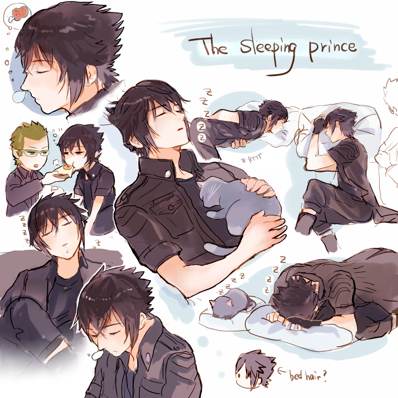 These are all my fansies,haha I wonder what kind of meaning his sleeping have.