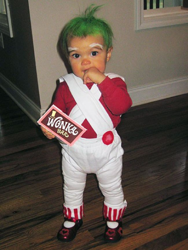 Their parents did an awesome job baby girl pinterest baby fun halloween pumpkin costumes crafts diy baby oompa loompa baby costume umm i want to wear this myself solutioingenieria Choice Image